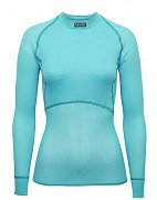 Dámské triko BRYNJE CLASSIC WOOL THERMO LIGHT SHIRT aqua