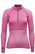 Dámský rolák BRYNJE CLASSIC WOOL THERMO LIGHT ZIP-POLO pink  XS