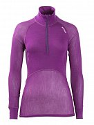 Dámský rolák BRYNJE CLASSIC WOOL THERMO LIGHT ZIP-POLO violet  XS