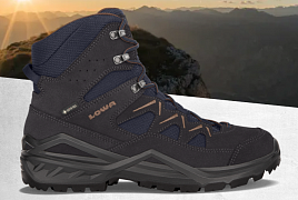 LOWA SIRKOS EVO GTX MID navy/brown UK 8