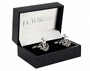 Anchor Shaped Simply Metal Cufflinks