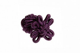 Aubergine Purple Flower Shaped Silk Cuffknots