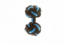 Black & Blue Silk Cuffknots