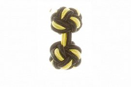 Black & Canary Yellow Silk Cuffknots