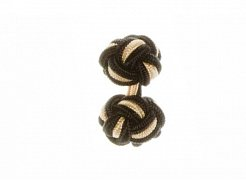Black & Yellow Silk Cuffknots