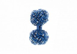 Blue & White Sparkle Silk Cuffknots