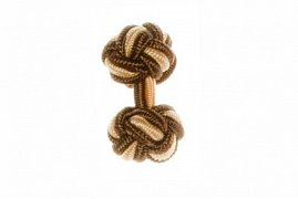Brown & Yellow Silk Cuffknots