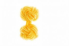 Buttercup Yellow Cuffknots Silk Knot Cufflinks