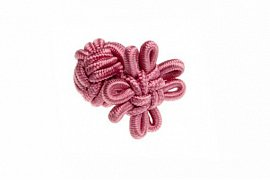 Candy Pink Flower Shaped Silk Cuffknots