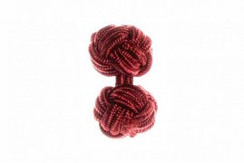 Claret Deep Red Silk Cuffknots