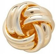 Gold Plated Knot Simply Metal Lapel Pin