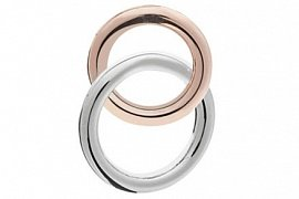 Intertwined Double Band Love Rings Lapel Pin