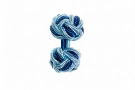 Light Blue & Royal Blue Cuffknots Silk Knot Cufflinks