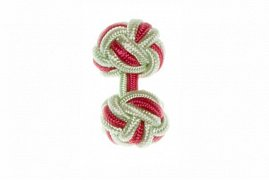 Light Green & Pink Cuffknots Silk Knot Cufflinks