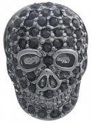 Mad & Bad Black Crystal Skull Lapel Pin