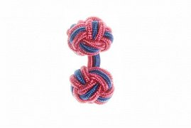 Pink & Royal Blue Silk Cuffknots