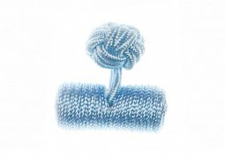 Plain Light Blue Barrel Silk Cuffknots