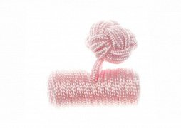 Plain Pink Barrel Silk Cuffknots