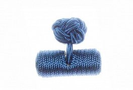 Plain Royal Blue Barrel Silk Cuffknots