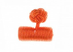 Plain Tango Orange Barrel Silk Cuffknots