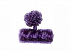 Plain Violet Barrel Silk Cuffknots