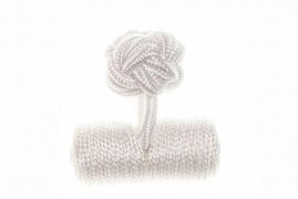 Plain White Barrel Silk Cuffknots