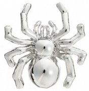 Polished Metal Spider Arachnid Lapel Pin