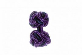 Purple and Navy Blue Silk Cuffknots