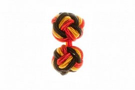 Red, Black & Gold Silk Cuffknots