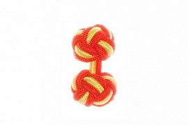 Red & Canary Yellow Silk Cuffknots