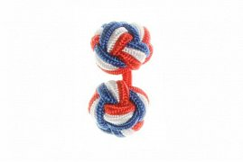 Red, White and Blue Silk Cuffknots