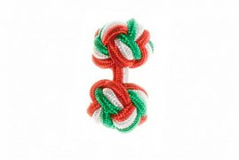 Red, White & Green Silk Cuffknots