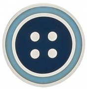 Round Dark Blue & Light Blue Enamel Button Lapel Pin