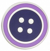 Round Navy Blue & Purple Enamel Button Lapel Pin