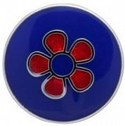 Round Red Flower Simply Metal Lapel Pin