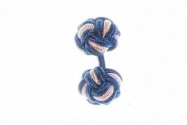 Royal Blue and Pink Silk Cuffknots