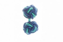 Royal Blue and Turquoise Blue Silk Cuffknots