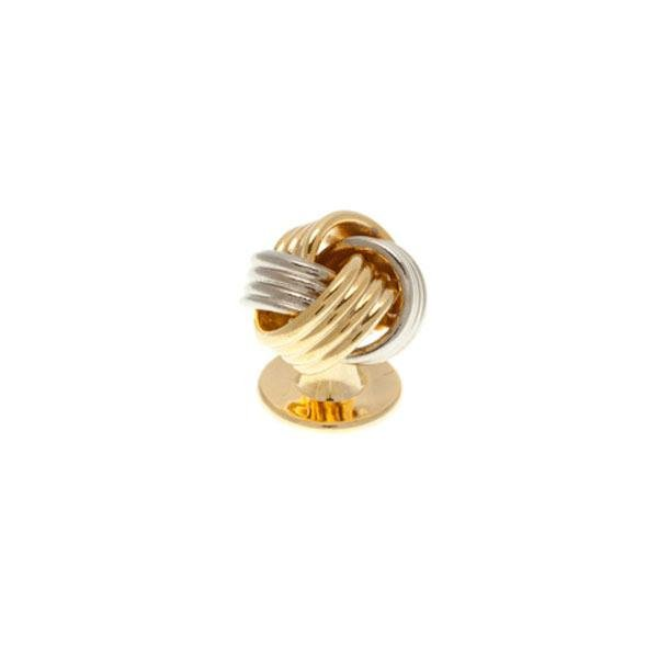 Single Gold Plated Knot Weave Dress Stud