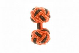 Tango Orange & Black Silk Cuffknots