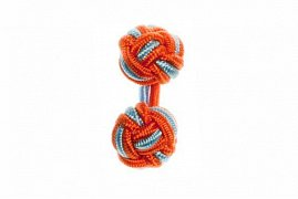 Tango Orange & Light Blue Cuffknots Silk Knot Cufflinks