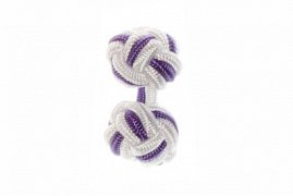 White and Purple Silk Cuffknots