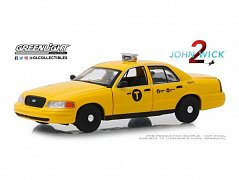 John Wick Chapter 2 Diecast Model 1/43 2008 Ford Crown Victoria Taxi
