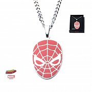 Spider-Man Stainless Steel Pendant with Chain Red Face