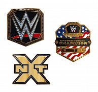 WWE Championship Belt Buckles Wave 1 Assortment (8)